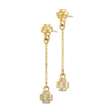 Load image into Gallery viewer, Stud Earrings Diamond, 18k Gold Earrings with Small Diamonds