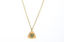 18k Gold Necklace with Tsavorites Black Diamonds