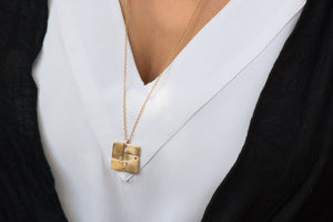 Square Folded Necklace