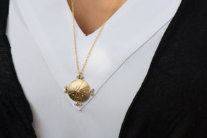 Long Round Necklace 18k Gold