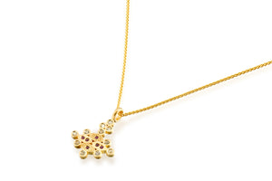 Ruby Sapphire Necklace Gold