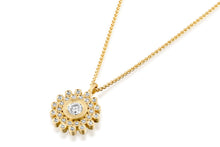 Load image into Gallery viewer, Diamonds Round Necklace 18k Gold
