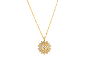 Diamonds Round Necklace 18k Gold