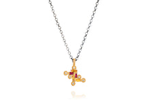Load image into Gallery viewer, Yellow Sapphire and Ruby Diamond Necklace