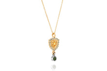 Load image into Gallery viewer, 18k Gold Necklace set with Yellow Sapphire, Blue Sapphire and Tourmaline