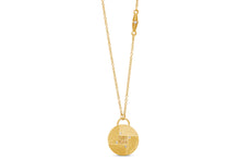 Load image into Gallery viewer, Long Round Necklace 18k Gold with baguette Diamond