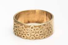 Load image into Gallery viewer, Wide Alternative Wedding Ring in 14k gold
