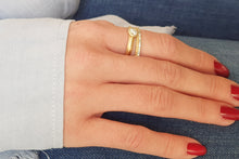 Load image into Gallery viewer, Stacking Ring Wedding Set Gold