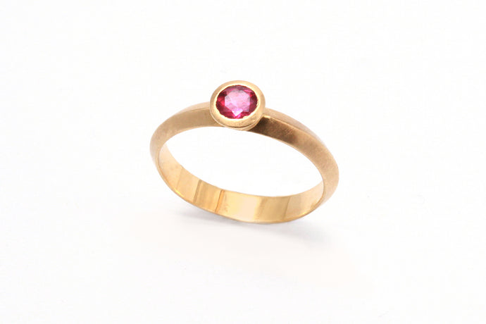 Tourmaline Engagement Ring 14k Gold