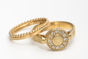 Unique Wedding Ring Set Gold