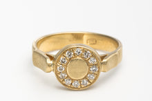 Load image into Gallery viewer, Diamond Round Engagement Ring in 18k Yellow Gold