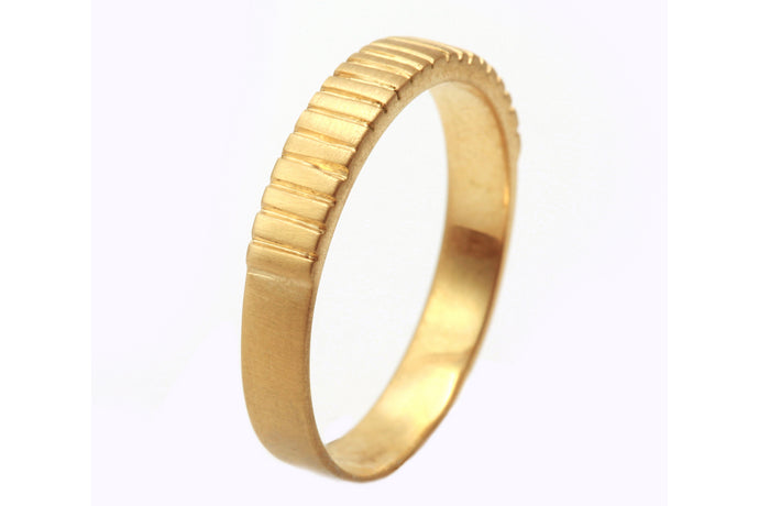 Stripes Mens Wedding Band