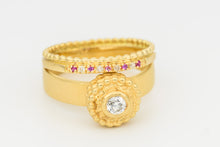 Load image into Gallery viewer, Wedding Rings Set with Diamonds and Sapphires