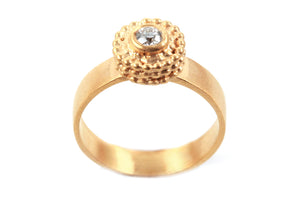 Diamond Solitaire Gold Engagement Ring
