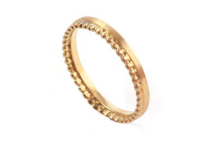 18k Gold Unique Wedding Ring Unisex