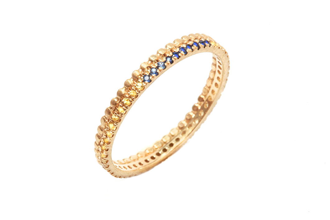 18k gold Infinity Sapphire Engagement Ring