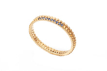 Load image into Gallery viewer, 18k gold Infinity Sapphire Engagement Ring