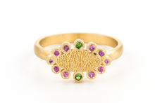 Load image into Gallery viewer, Sapphire Tsavorite Marquise Ring