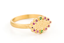 Load image into Gallery viewer, 18k gold Sapphire Tsavorite Marquise Ring