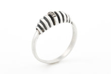 Load image into Gallery viewer, Rustic Silver Ring with Diamonds