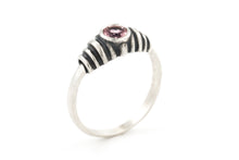 Load image into Gallery viewer, Tourmaline Solitaire Silver Ring