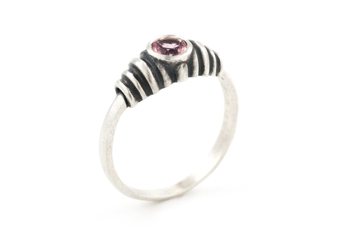 Tourmaline Solitaire Silver Ring