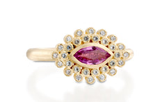 Load image into Gallery viewer, Pink Sapphire Marquise Ring 18k Gold