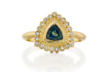 Load image into Gallery viewer, Trillion Sapphire Engagement Ring