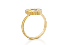 Load image into Gallery viewer, 18k gold Trillion Sapphire Engagement Ring