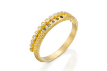 Load image into Gallery viewer, Diamonds Sapphires Wedding Ring Gold