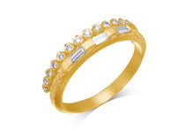 Load image into Gallery viewer, Alternative Diamond Baguette Engagemnt  Wedding Ring