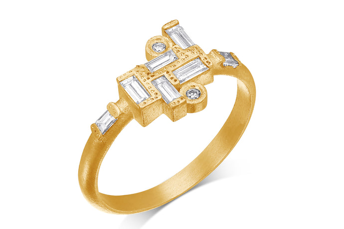 Alternative Diamond Baguette Engagement Ring