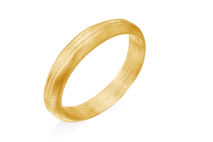 18k Yellow Gold Unisex Wedding Band