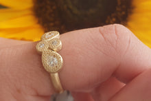 Load image into Gallery viewer, Champagne Diamond Engagement Ring, Marquise Shape Ring