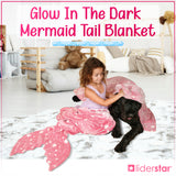 Glow In The Dark Tail Mermaid Blanket