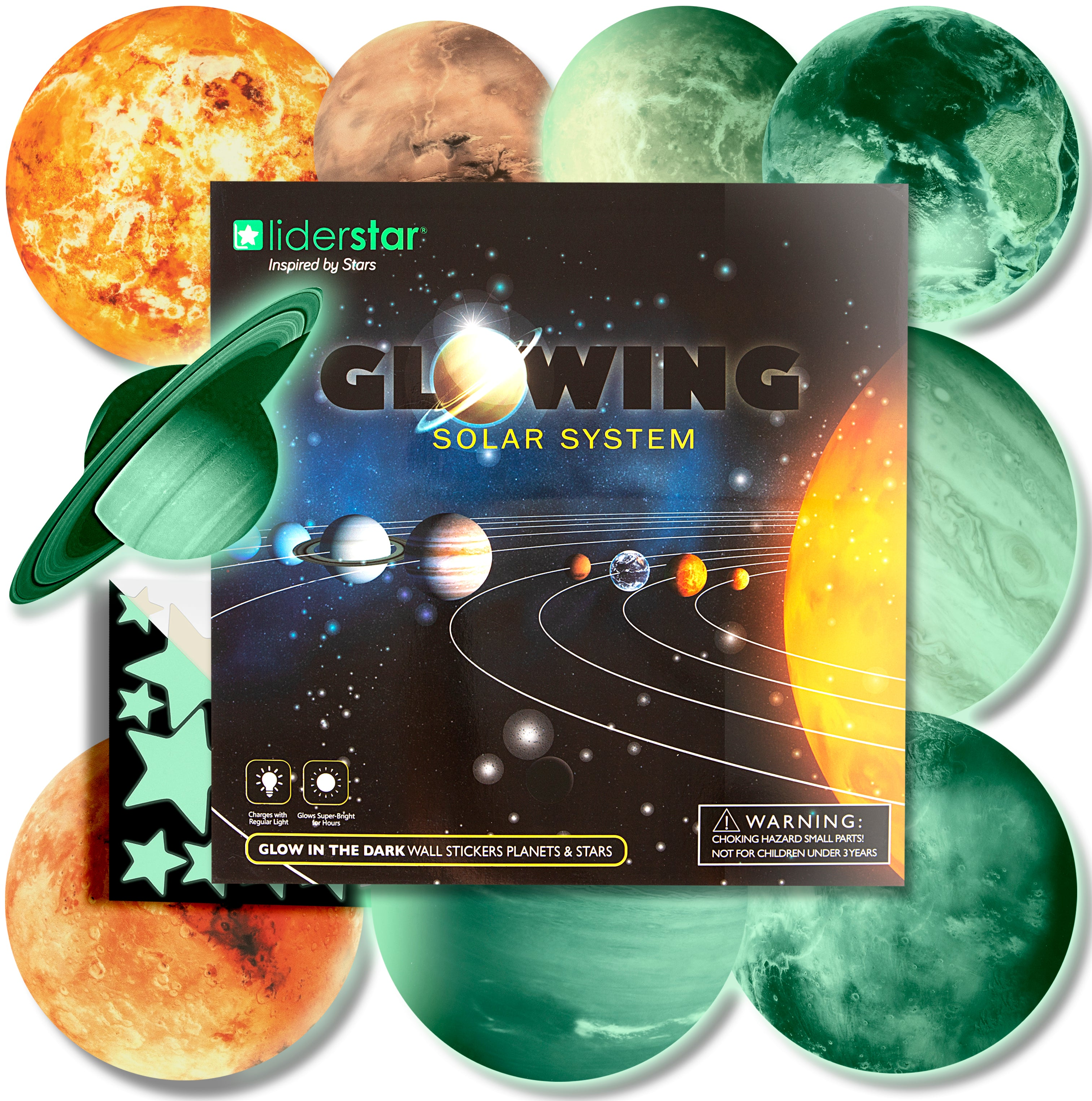 Glow Solar System Wall Decor