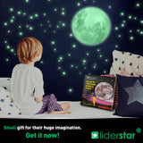 Glow In The Dark Stars and Full Moon