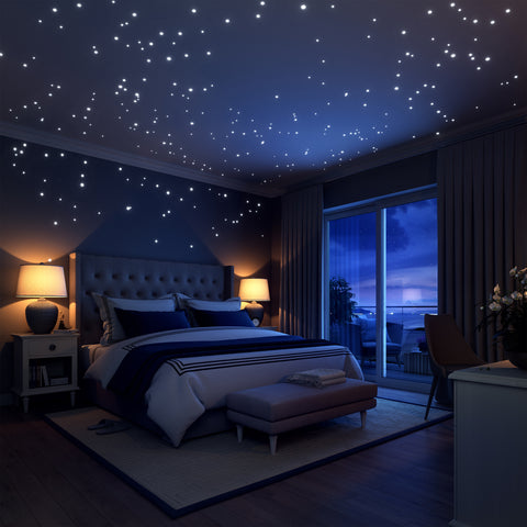 Glow In The Dark Galaxy Set 252 Wall Removable Decals