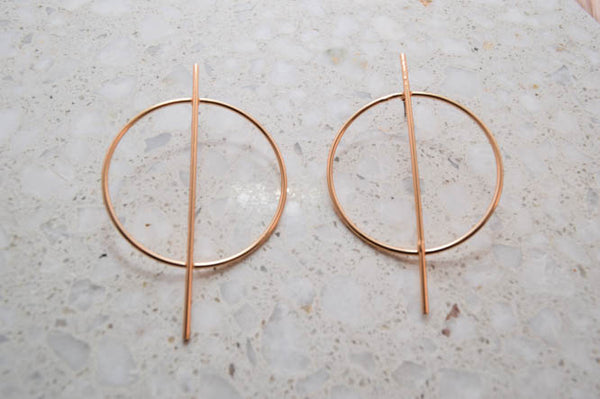 HARPER Geometric Hoops in Gold - AZARIA