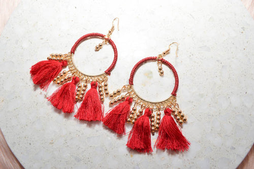 PRE-ORDER: MARISSA Earrings in Wine - AZARIA