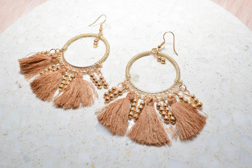 PRE-ORDER: MARISSA Earrings in Beige - AZARIA