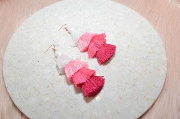 PRE-ORDER: CAMILLA Earrings in Peach - AZARIA