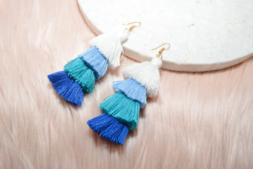 CAMILLA Earrings in Blue - AZARIA