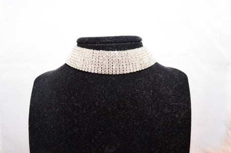 TARA Diamond Choker in Black