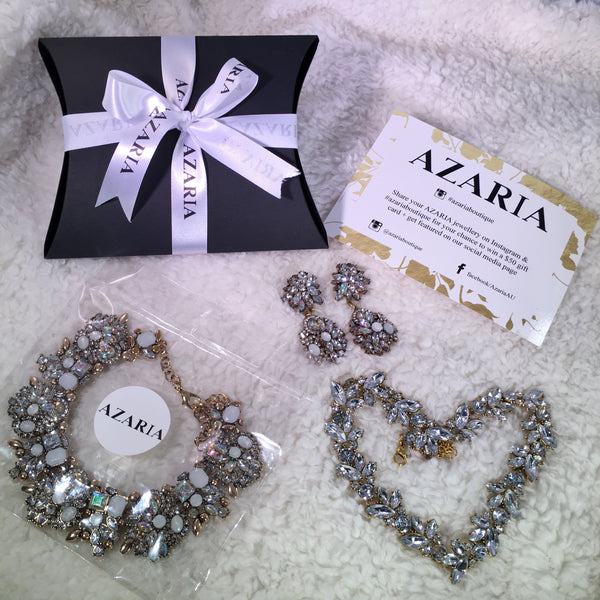 LEIA Rhinestone Earrings - AZARIA
