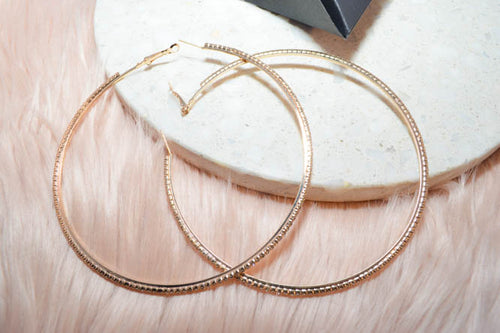 KAIA Crystal Hoops in Gold - AZARIA