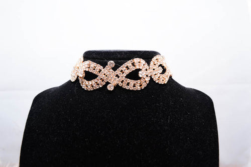 SOPHIA Crystal Choker in Gold - AZARIA