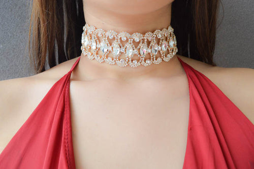 TARA Diamond Choker in Gold - AZARIA