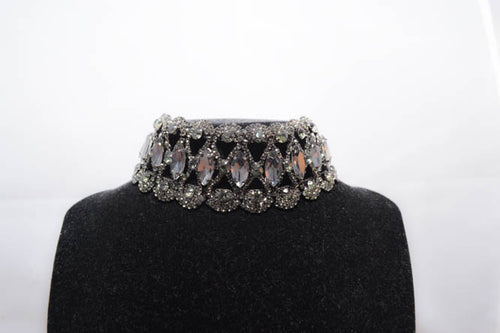 TARA Diamond Choker in Black - AZARIA