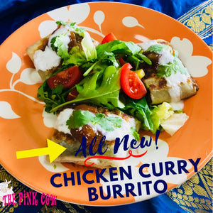 4 Pack Pink Cow Original Chicken Curry Burritos  4パック入り チキンカレー ブリトー